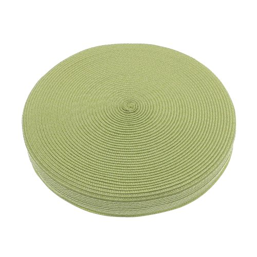Alfresco Woven Circular Seat Pad, Lime Green