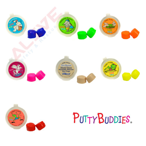 Putty Buddies Floating Silicone Ear Plugs for swimming