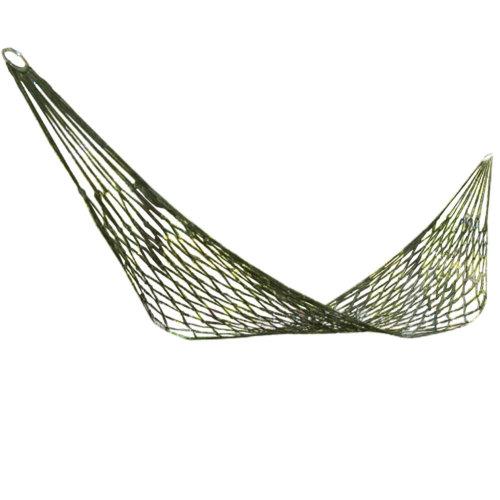 Single Person Reticular Hammock Outdoor Leisure Hammocks 80*260 CM Green