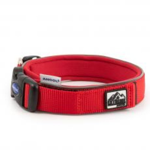 Extreme Nylon Padded Collar Red Size 4 34-40cm