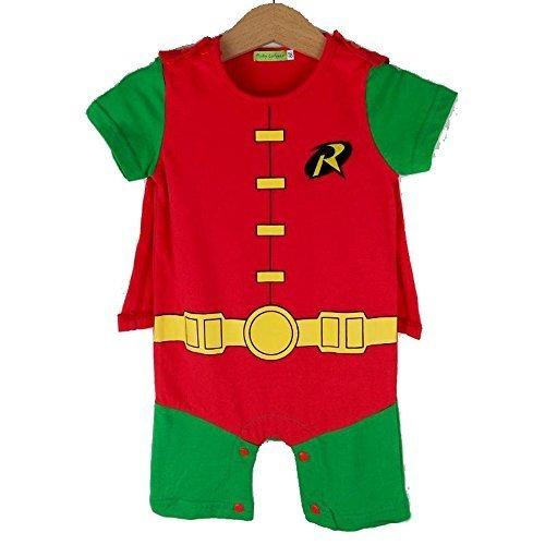 Robin-inspired Baby Infant Superhero Costume