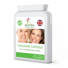 Pure Marine Collagen Capsules / 60 x 600mg / Hydrolysed Type 1 & Type 2 Collagen