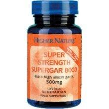 Higher Nature Supergar 8000 Super Strength Garlic 90's