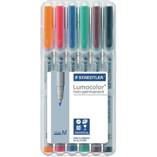Lumocolor Non-Permanent 1.0Mm Pens 6/Pkg-