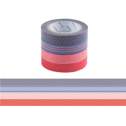 4PCS DIY, Office And Gift Wrap Washi Paper Tape Decorative Masking Tapes
