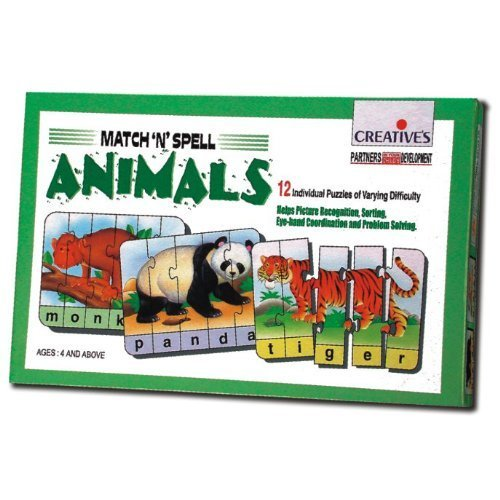 Creative School Match N Spell Animals - Cre0640 Educational Matchn -  creative school animals cre0640 match spell educational matchnspell