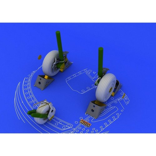 Edb648053 - Eduard Brassin 1:48 - Su-27 Wheels (academy)
