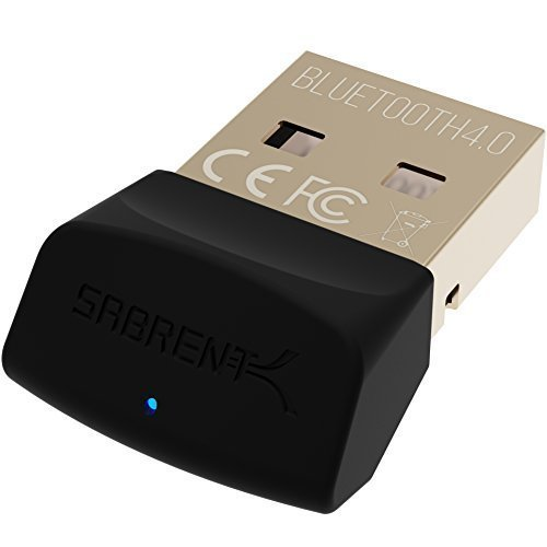 Sabrent USB Bluetooth 4.0 LE Micro Adapter for PC | v4.0 Class 2 with Low Energy Technology. (Classic Bluetooth, and Stereo Headset Compatible;...