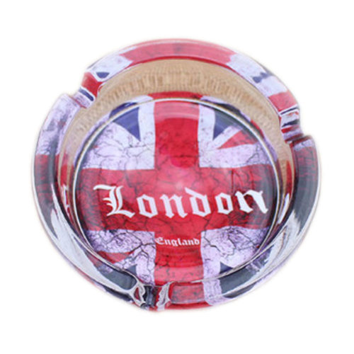 Creative Gifts Men's British Style Crystal Glass Ashtray [Retro M-Flag]