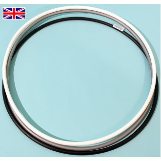 Hula hoops by Witzigs Games 6x600mm BLACK, WHITE & SILVER ref. 3239