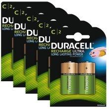 10 x Duracell C Size 3000 mAh Rechargeable Batteries NiMH LR14 HR14 DC1400 ACCU