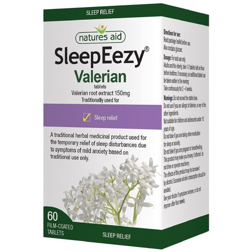 Natures Aid SleepEezy 150mg (Equivalent 750mg - 900mg Valerian root) 60 Tablets