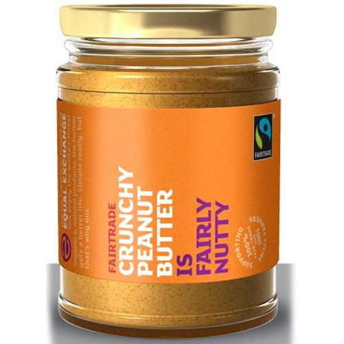 Equal Exchange Fairtrade/organic Crunchy Peanut Butter No Salt 280g