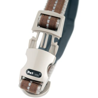 """Petface Signature Padded Collar 16"""" To 20""""-Large-Brown"""