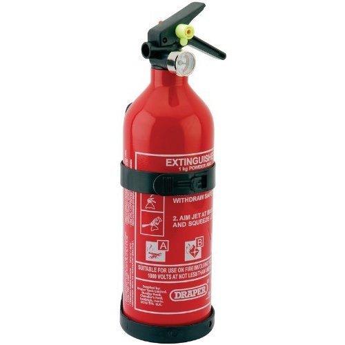 Draper 22185 1kg Dry Powder Extinguisher - Fire -  draper 1kg dry powder fire extinguisher 22185