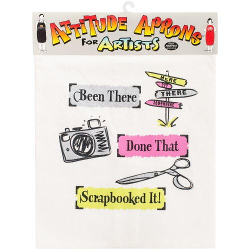 Attitude Artist Apron Natural-Scrapbooked It
