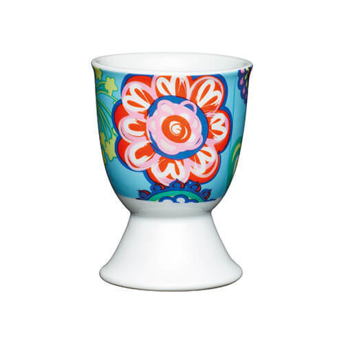 KitchenCraft Bright Floral Porcelain Egg Cup