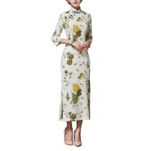 Vintage Elegant Dress Cheongsam Long Qipao Party Dresses for Women, #01