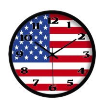 American Flag United States Wall Clock Stars and Stripes Wall Clock Home Decor12