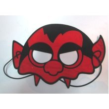 Mask Eye Devil In Red & Black -  devil eye mask red black halloween cosplay dress masquerade fancy accessory up party costume