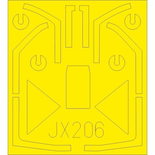 - Eduard Mask 1:48 EDMEX317 Airfix Bf 109E