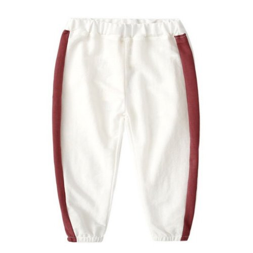 Comfortable Soft Children's Trousers, White And Dark Red