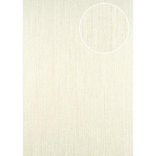 ATLAS CLA-596-3 Unicolour wallpaper subtly glittering cream white 5.33 sqm