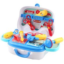 deAO Toys Doctor Kids Medical Center Hospital Convertible Mini Carry Case Portable Role Play Set with Accessories