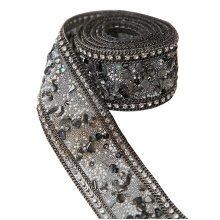 Rhinestone Sewing Trims Applique DIY Costume Wedding Bridal Chain, 3.5*50cm