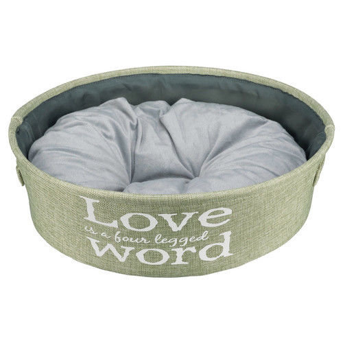 Lando Bed, Ø 45 Cm, Green - Trixie Bed Various Sizes New Dogs Cats -  trixie bed lando green various sizes new dogs cats
