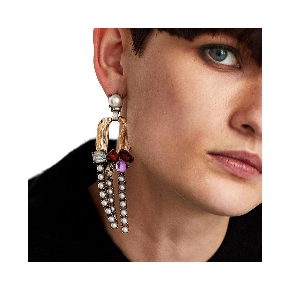 38e68cb73635f JUJIA long dangle metal tassels earrings classic water drop jewelry  Dangling simulated pearl earrings festival gift wholesale