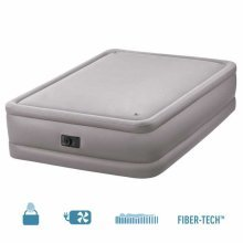 Intex 64470 Inflatable Double Bed with Increased Height and Integrated Pump