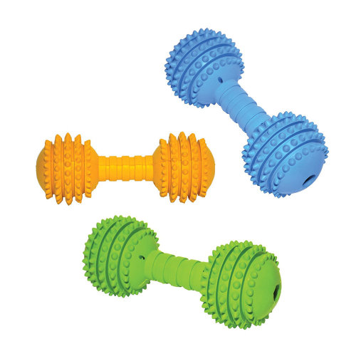 Rosewood Cyber Rubber Dumbell Dog Toy Large