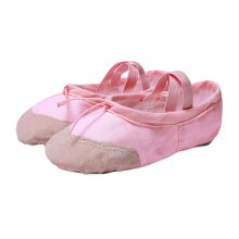 Durable Canvas Dance Shoes Pink Ballet Shoes Ballet Slipper with Split Soft Sole