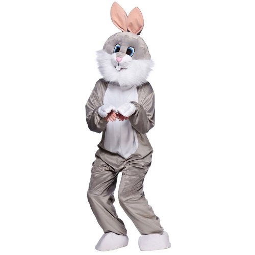 Grey Easter Bunny Rabbit Mascot Fancy Dress Costume