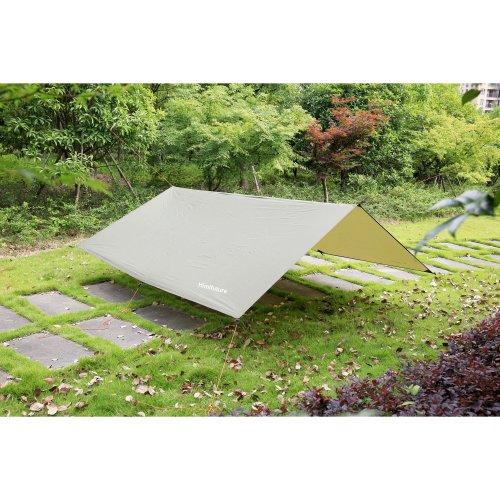 3m x 3m Waterproof RipStop Rain Fly Hammock Tarp Cover Tent Shelter Tarpaulin for Camping Hiking Outdoor Travel