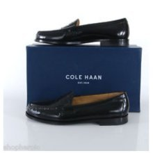 Cole Haan Pinch Penny Black Leather Loafer Slip-On Mens Dress Shoes, 10.5 D