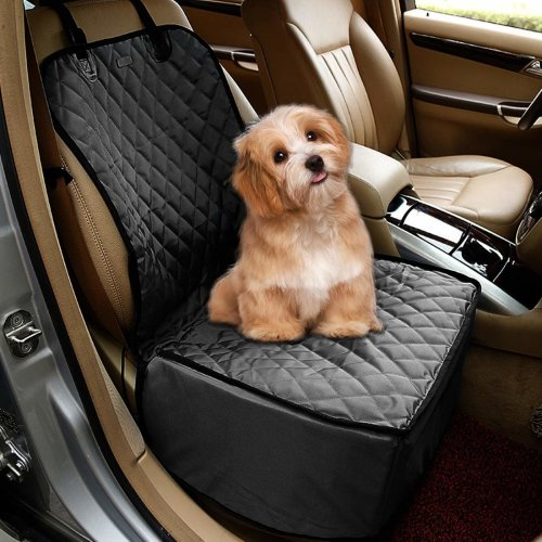 Dog Car Seat Cover 2 In 1 Nonslip Scratch Proof Pets Seat Car Cover Non Slip Waterproof Pets Travel Hammock Rear Seat Protector Single Front Pet
