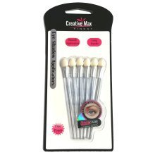 Creative Max Finest 6pc Long Handled Sponge Eyeshadow Applicators