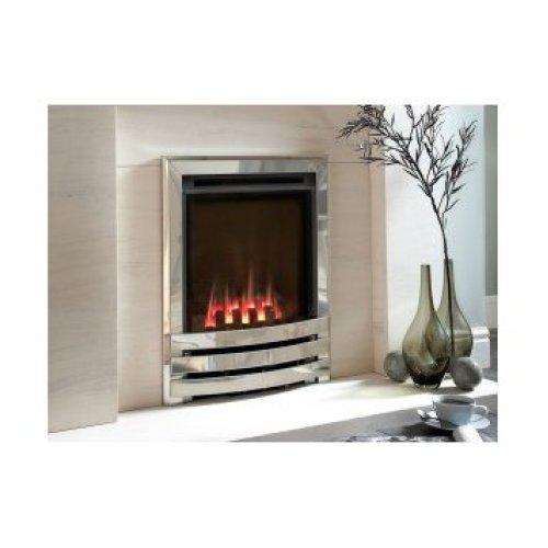 Designer Fire - Flavel FSHCU0MN Coal Silver Contemporary Windsor HE Gas Fire - MC