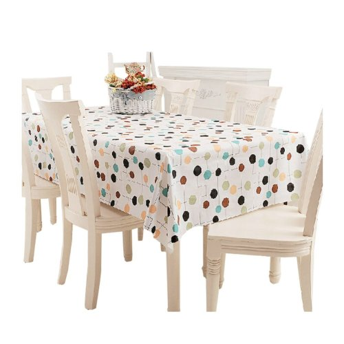 Modern PVC Waterproof Tablecloth Table Mat A (137*220cm)