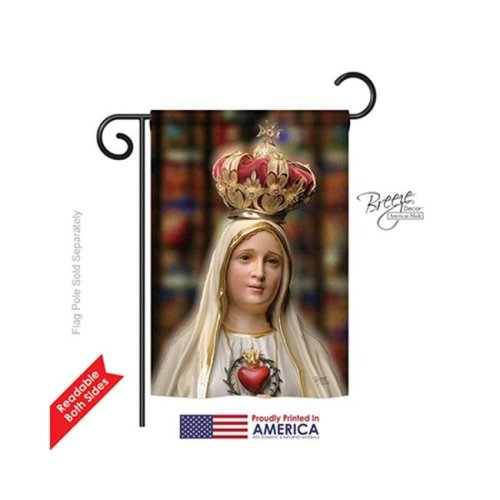 Breeze Decor 53058 Our Lady of Fatima 2-Sided Impression Garden Flag - 13 x 18.5 in.