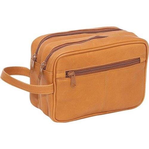 Le Donne Leather LD-8010-TN Unisex Toiletry Bag, Tan
