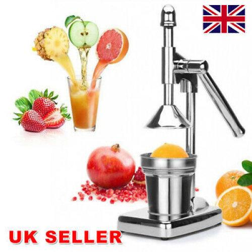Orange Hand Press Citrus Squeezer Fruit Juicer Manual Juice Stainless Steel UK