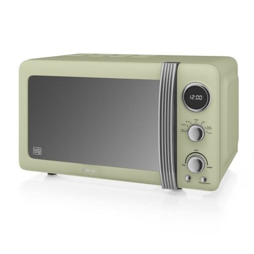 Swan Retro Digital Microwave 20 Litre 800 Watt - Green (Model No.SM22030GN)