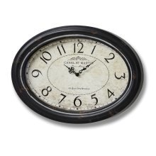 Oval Canal St Martin Wall Clock