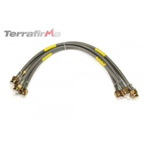 LAND ROVER DISCOVERY 1 1992-1994 TERRAFIRMA STAINLESS STEEL BRAIDED HOSES. TF607
