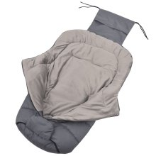 vidaXL Baby Footmuff / Stroller Bunting Bag 90x45 cm Grey
