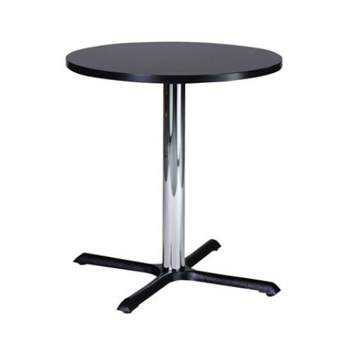 Roza Compact Small Kitchen Dining Table Cast Iron Base Black Round 60 Cm Top