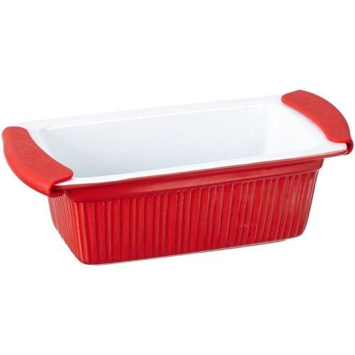 Bergner BG-1801044 Red Stoneware Rectangle Oven Baking Dish 1.4 Litres